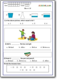 First Grade Conceptual Skill Assessment