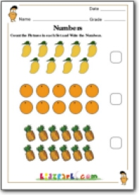 Fruits Counting Worksheet