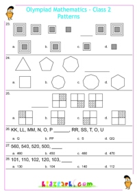 Class 2 Patterns Olympiad